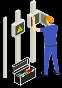 Installation einer Wallbox durch einen Elektriker